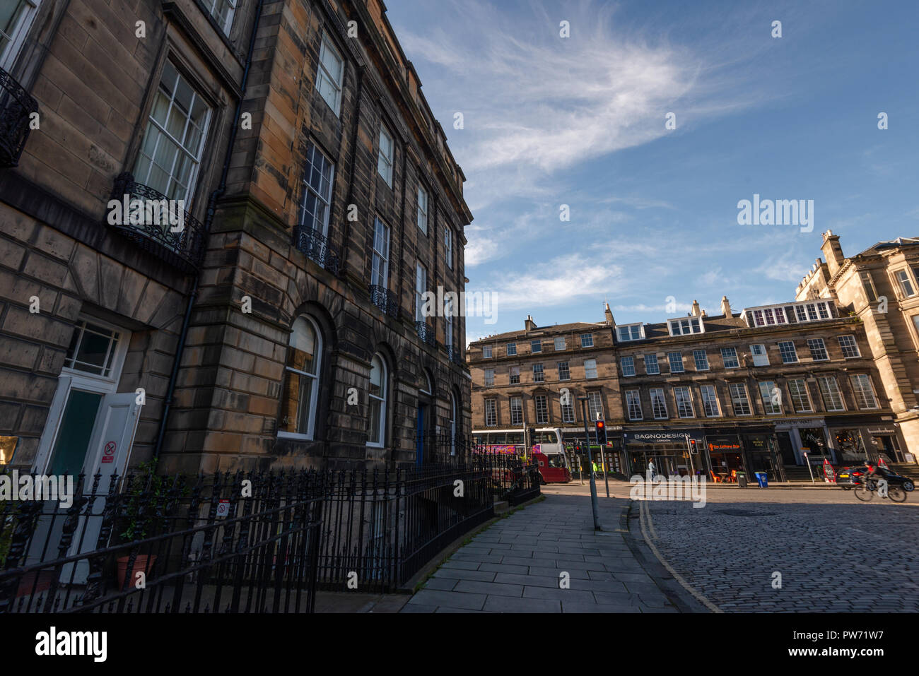 Bagno Design Edinburgh Charlotte Square Edinburgh Scotland United Kingdom Stock Photo