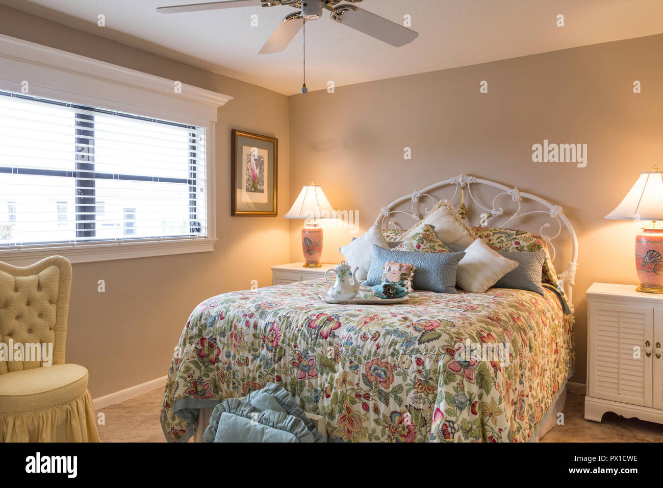 Upscale Ceiling Fan Designer Bedroom Upscale Home Florida Usa Stock Photo 222537546