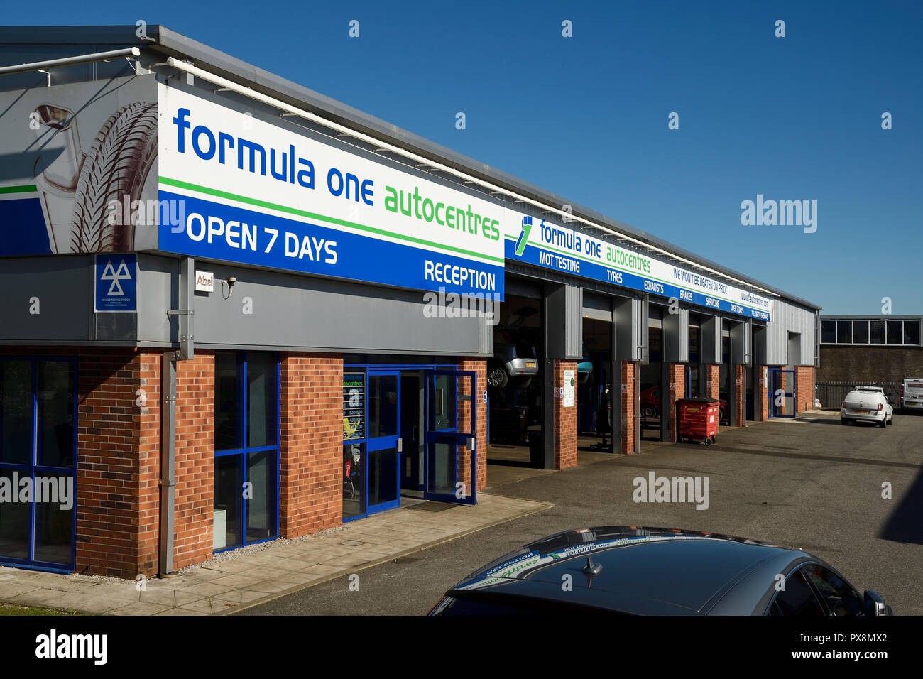 Tyres In Crewe Mot Test Centre Stock Photos And Mot Test Centre Stock