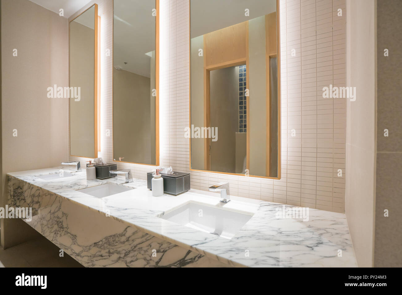 Design Interieur Hotel Interior Of Bathroom With Washbasin Faucet And Black Towel In Hotel