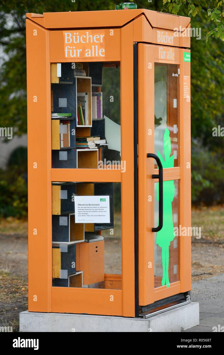 Berlin 24.de A Former Phone Box Was Changed To A Book Box Germany City Of
