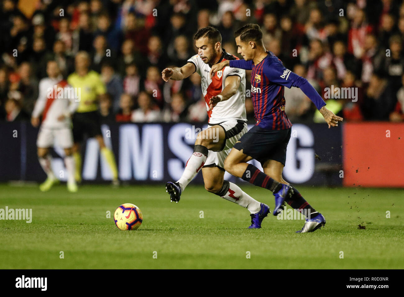 Futbol Live Campo De Futbol De Vallecas Madrid Spain 3rd Nov 2018 La Liga