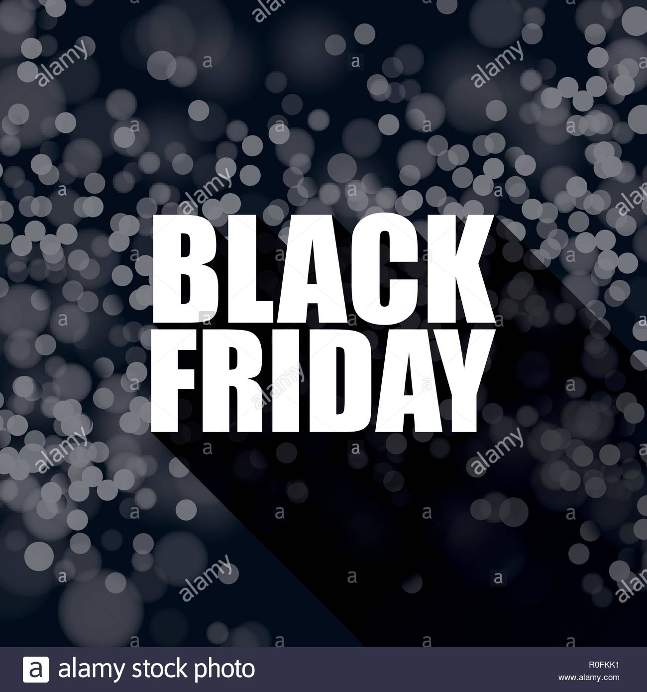 Black Sale Black Friday Sale Vector Banner Template With Blurred Bokeh