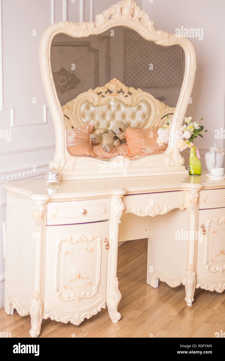Girls Dressing Table Boudoir Table Details Of The Interior Of The Bedroom For Girls