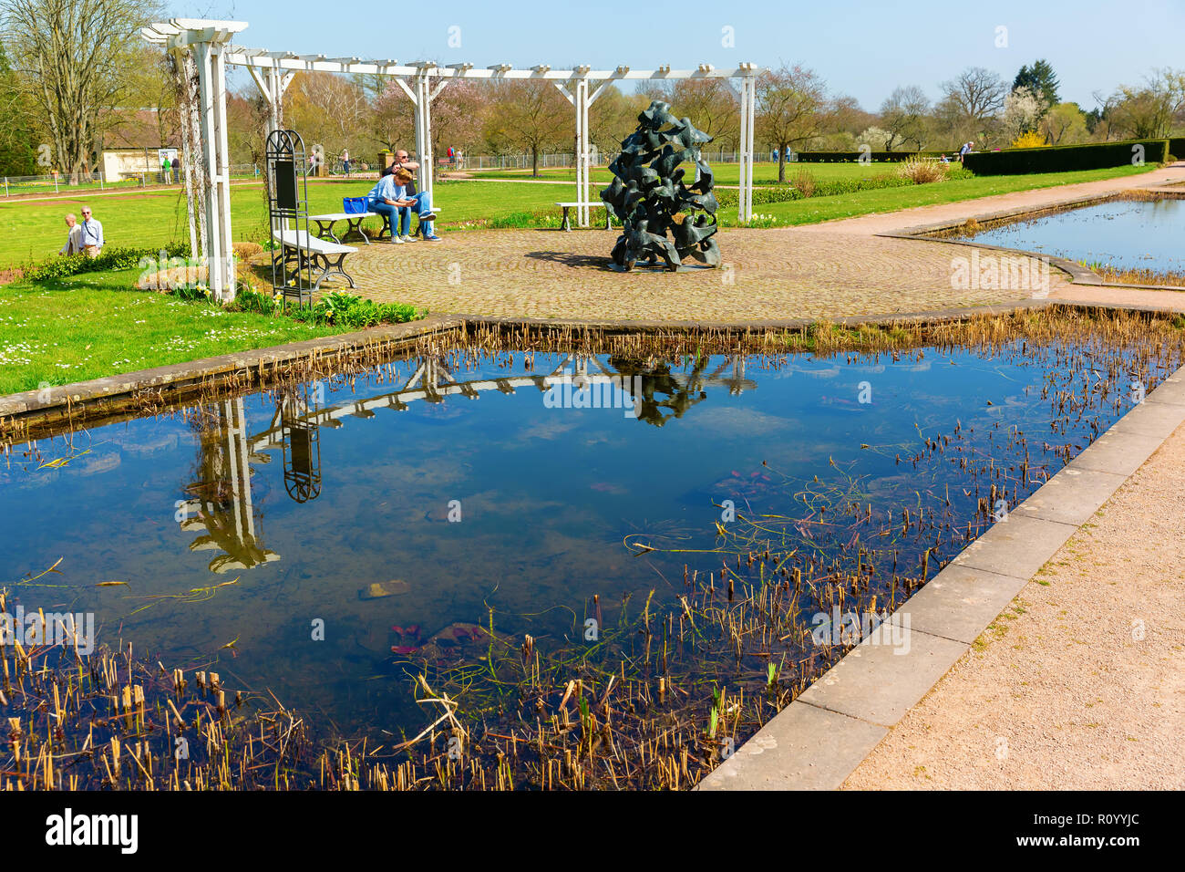 Pool Garten Hessen Darmstadt City Stock Photos Darmstadt City Stock Images Alamy
