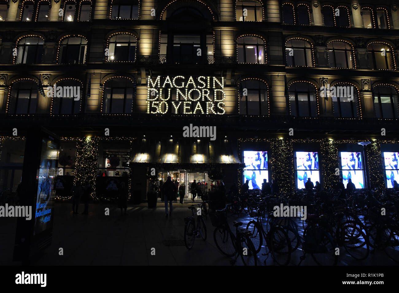 Decoration De Magasin Copenhagen Denmark 13th November 2018 Christmas Light