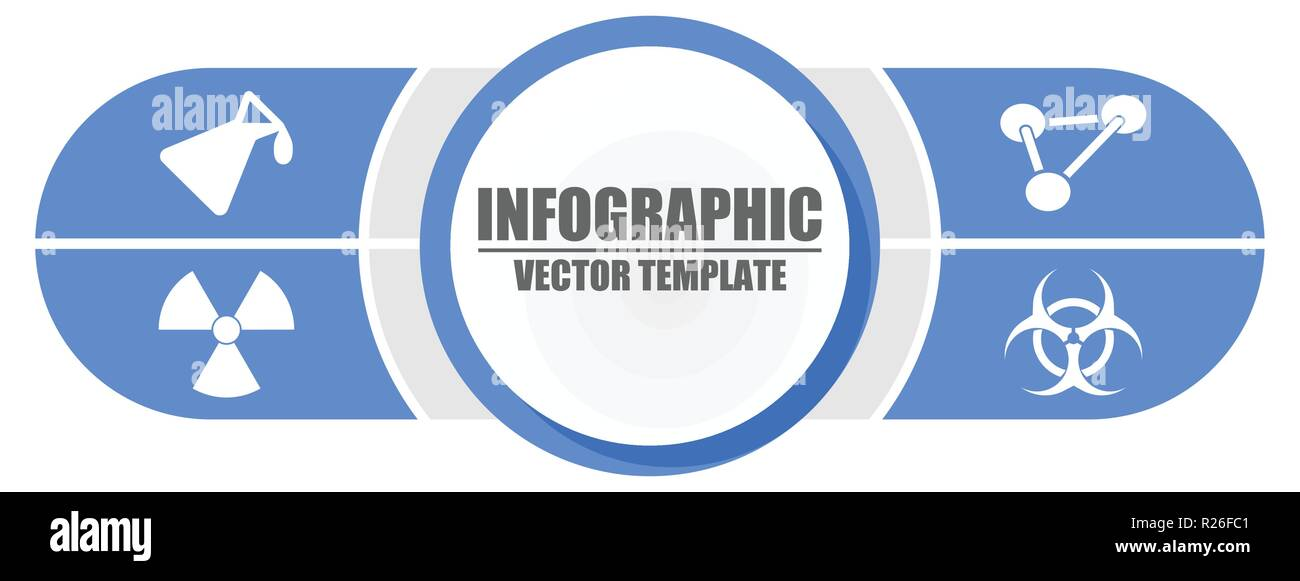 Infographic science presentation vector pointer template with 4