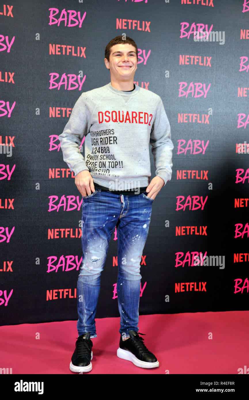 Television Series Of Rome Italy 27th Nov 2018 Rome Photocall Of The Netflix Baby