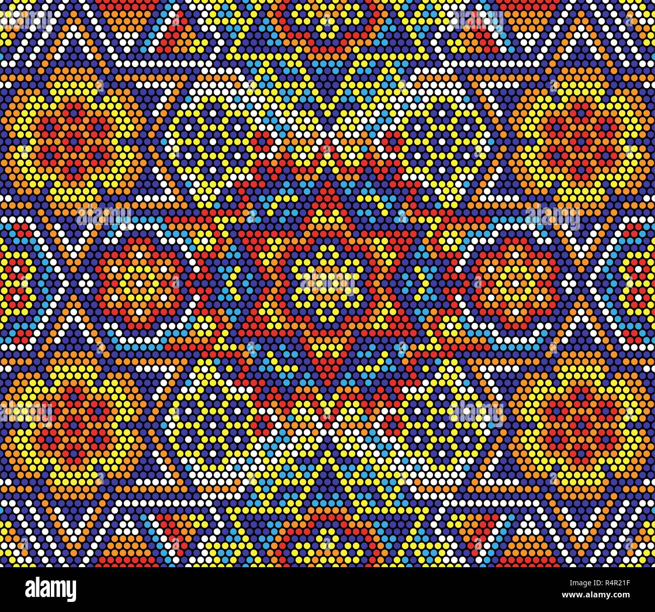 Arte Huichol O Huichol Mexican Stock Vector Images Alamy