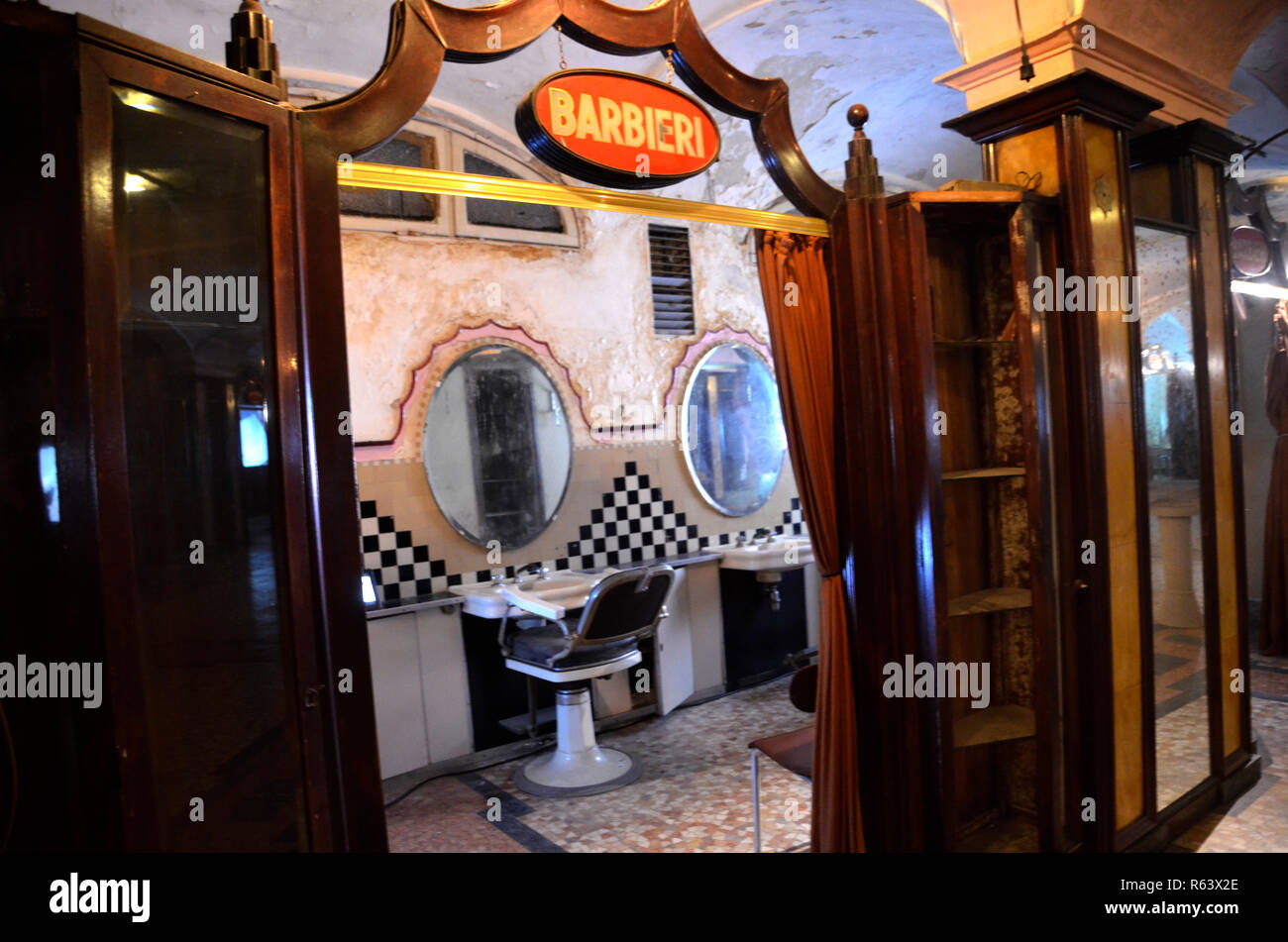 Albergo Diurno Venezia Made By Architect Portaluppi In Milan Was A Beauty Salon Thermal Bath Area And Hair Stylist Between 1926 And 1985 Milan 2018 Stock Photo Alamy