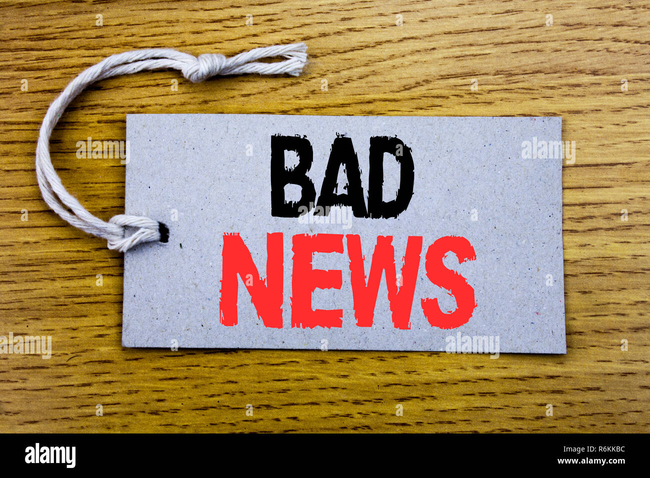 Vintage Bad Copy Conceptual Hand Writing Text Caption Showing Bad News