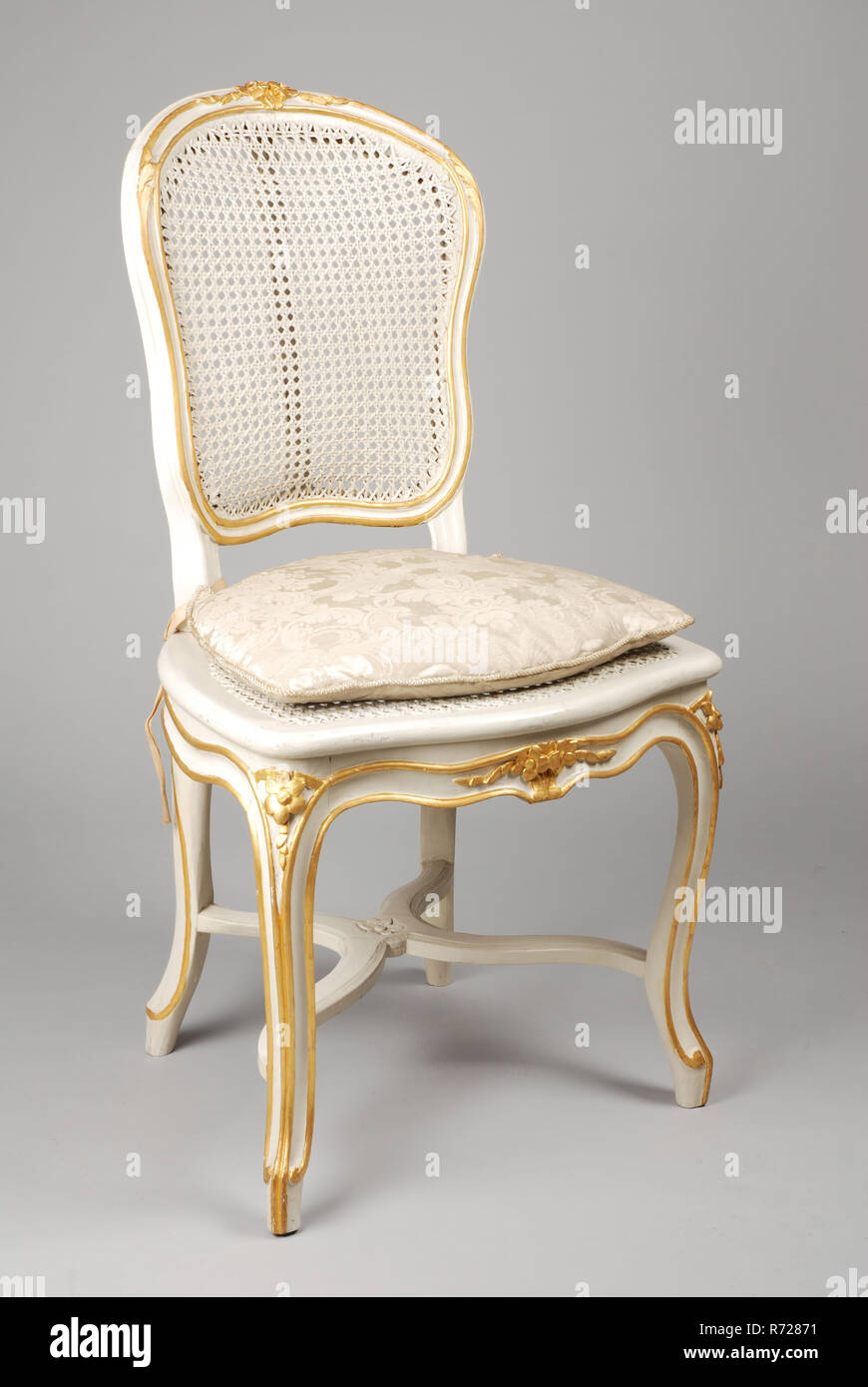 Painted Rattan Furniture White Painted Straight Rococo Chair Chair Furniture Furniture