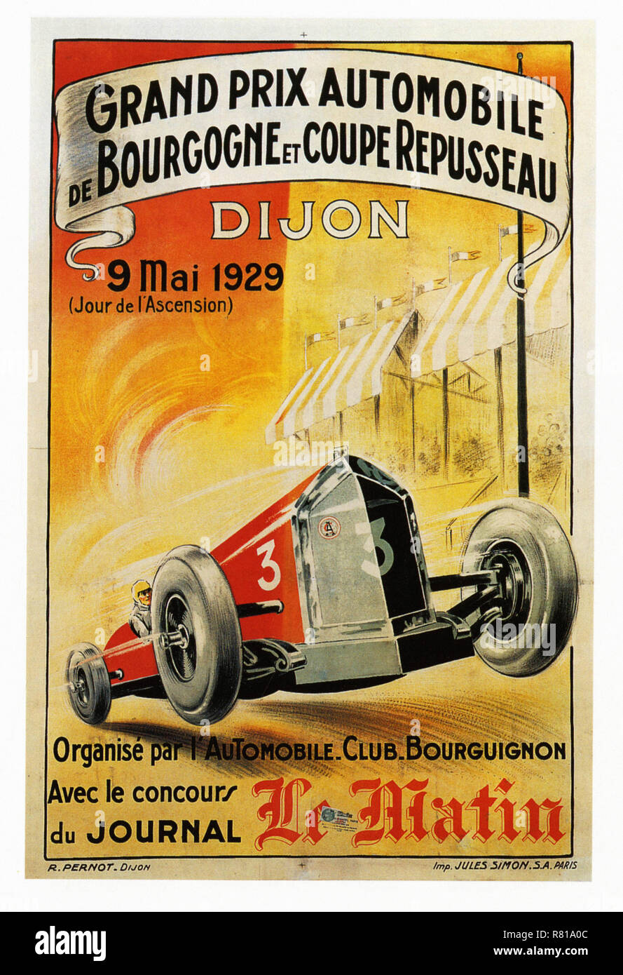 Garage Auto Dijon French Vintage Car Cut Out Stock Images Pictures Alamy