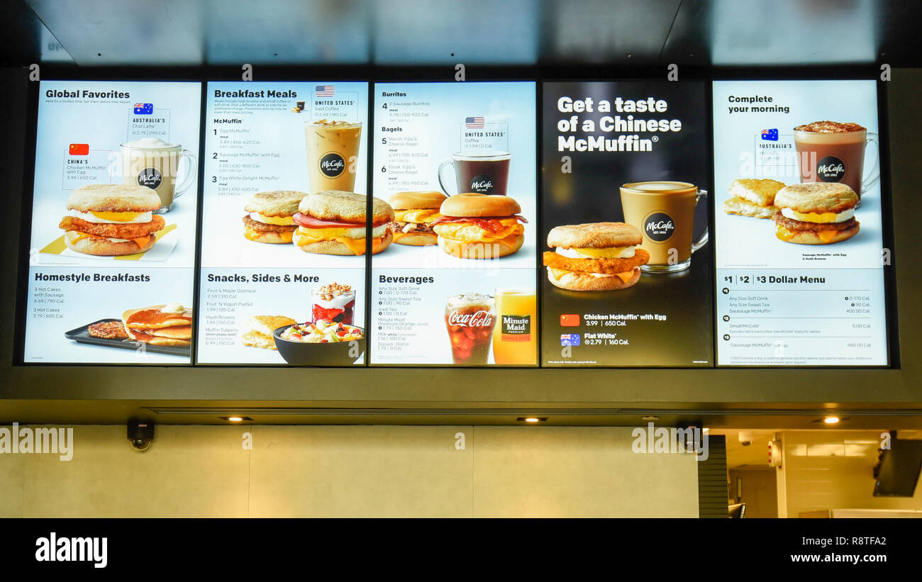 Mcdonalds Kitchen Equipment List Mcdonalds Menu Stock Photos And Mcdonalds Menu Stock Images