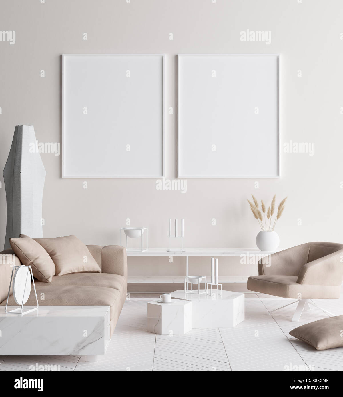 Gmk Home & Living Sofa Mock Up Poster Frame In Modern Home Interior Scandinavian
