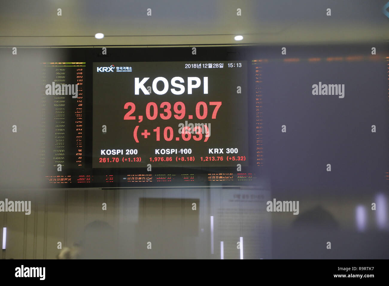 Asian Stock Markets Live Update Seoul South Korea South Korea 28th Dec 2018 Dec 28