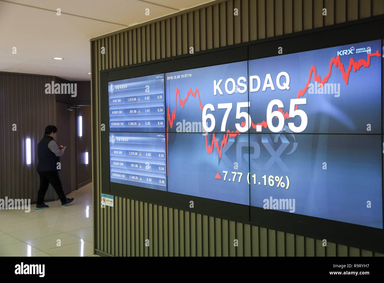 Asian Stock Markets Live Update December 28 2018 Seoul South Korea A View Of Stock