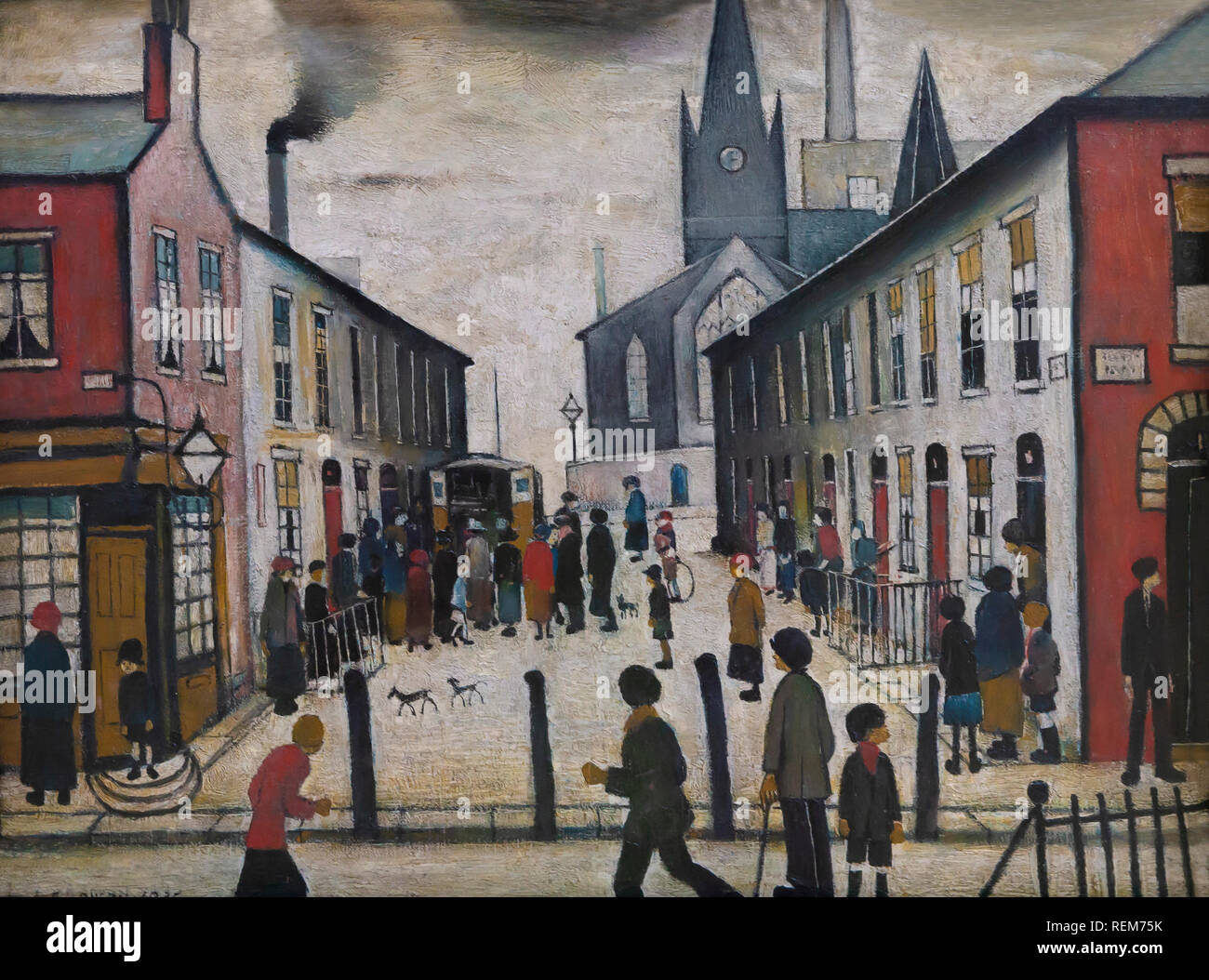 Pittore Inglese Lowry Laurence Stephen Lowry Stock Photos Laurence Stephen Lowry Stock