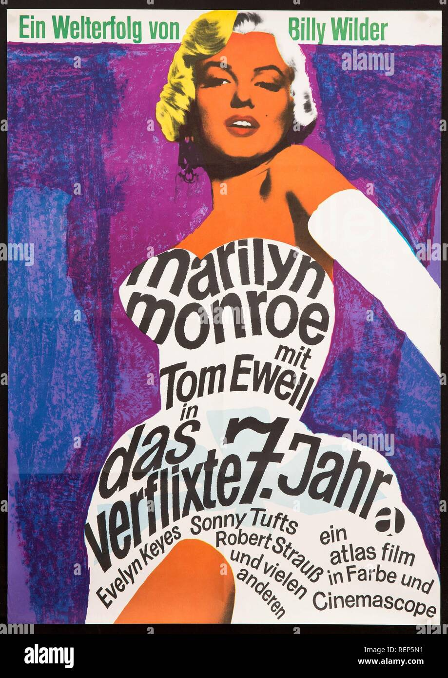 Marilyn Monroe Poster The Seven Year Itch Year 1955 Usa Director Billy Wilder