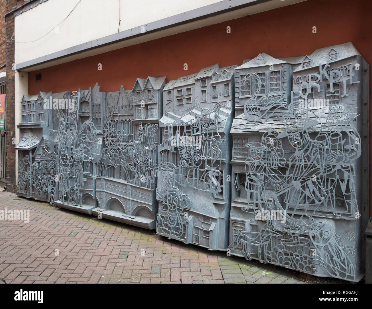 Metal Sculpture Wall Art Metal Sculpture Wall Art Depicting Local Features And Buildings By