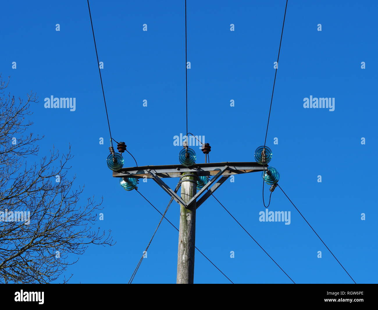 Power Electric Overhead Electric Power Lines Stock Photos Overhead Electric