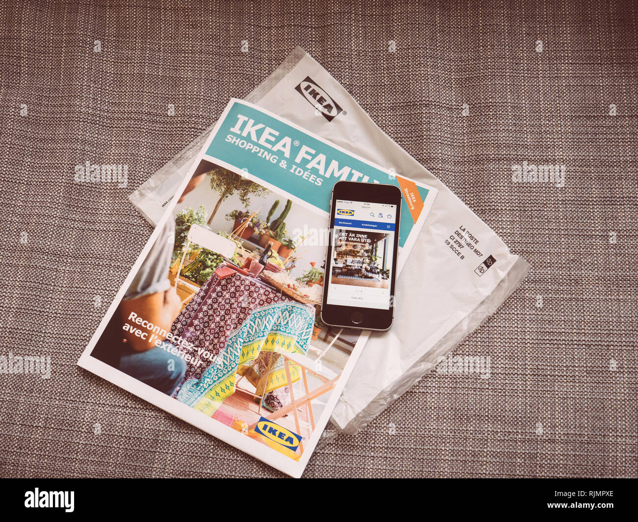 Sav Ikea Telephone Retailer Magazine Stock Photos Retailer Magazine Stock Images