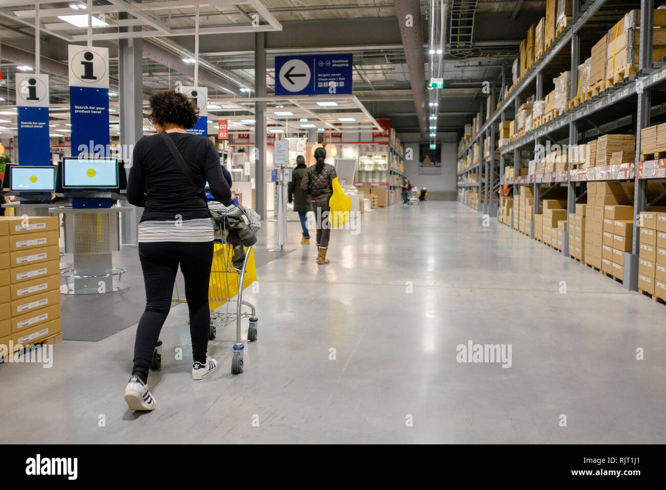 London Uk 7th February 2019 Swedish Furniture And Household Goods Company Ikea Opens Its New Store