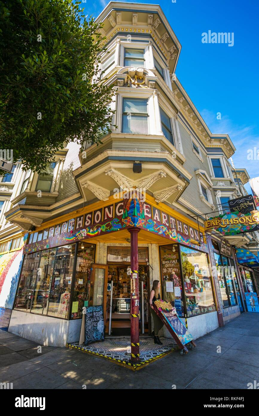 Haight Ashbury District The Neighborhood Is Known For Being The Origin Of Hippie Counterculture San Francisco California Usa Stock Photo Alamy