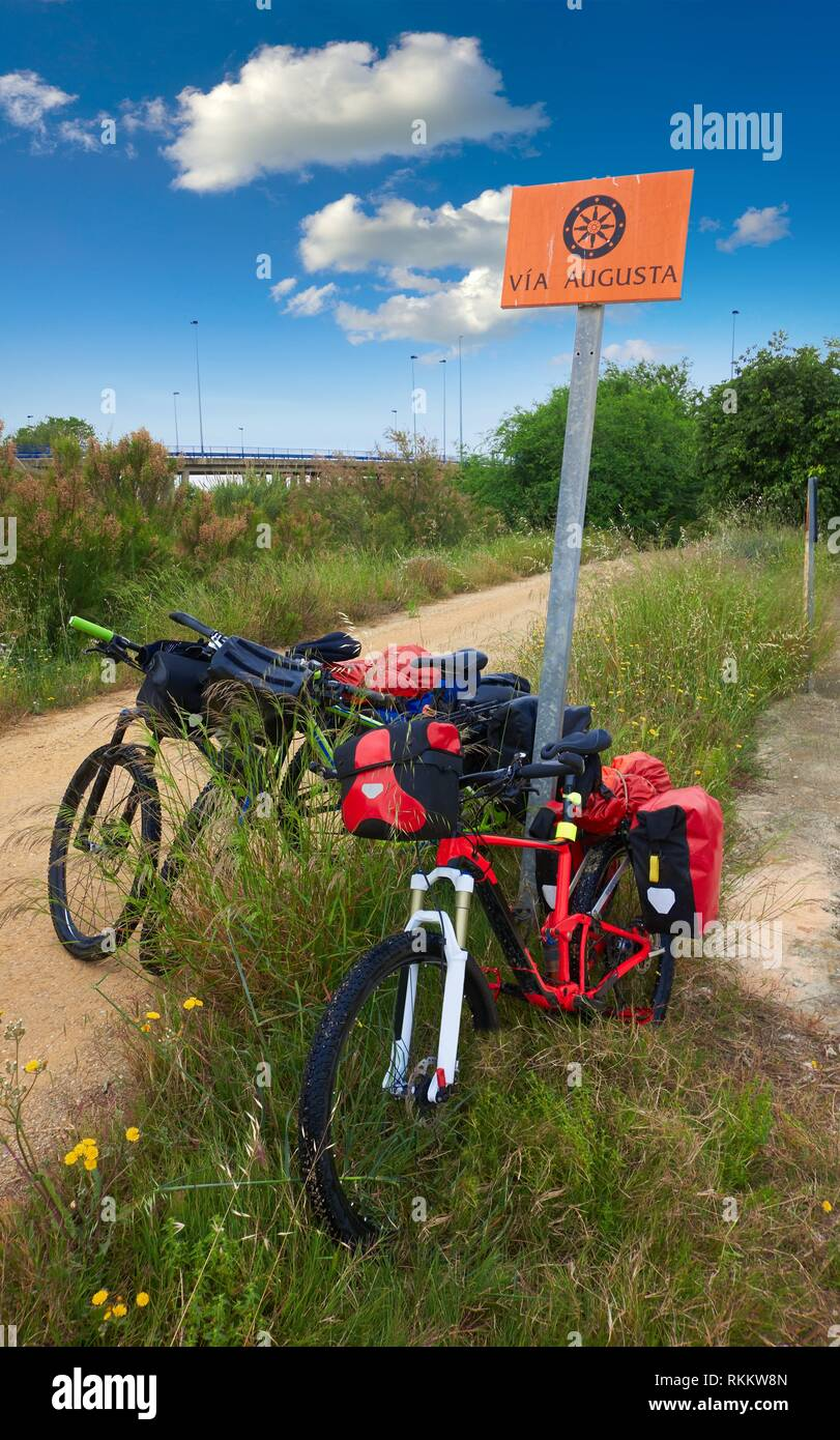 Camino Santiago Valencia Bike Cycling Tourism By Via Augusta Track In Valencia Of Spain