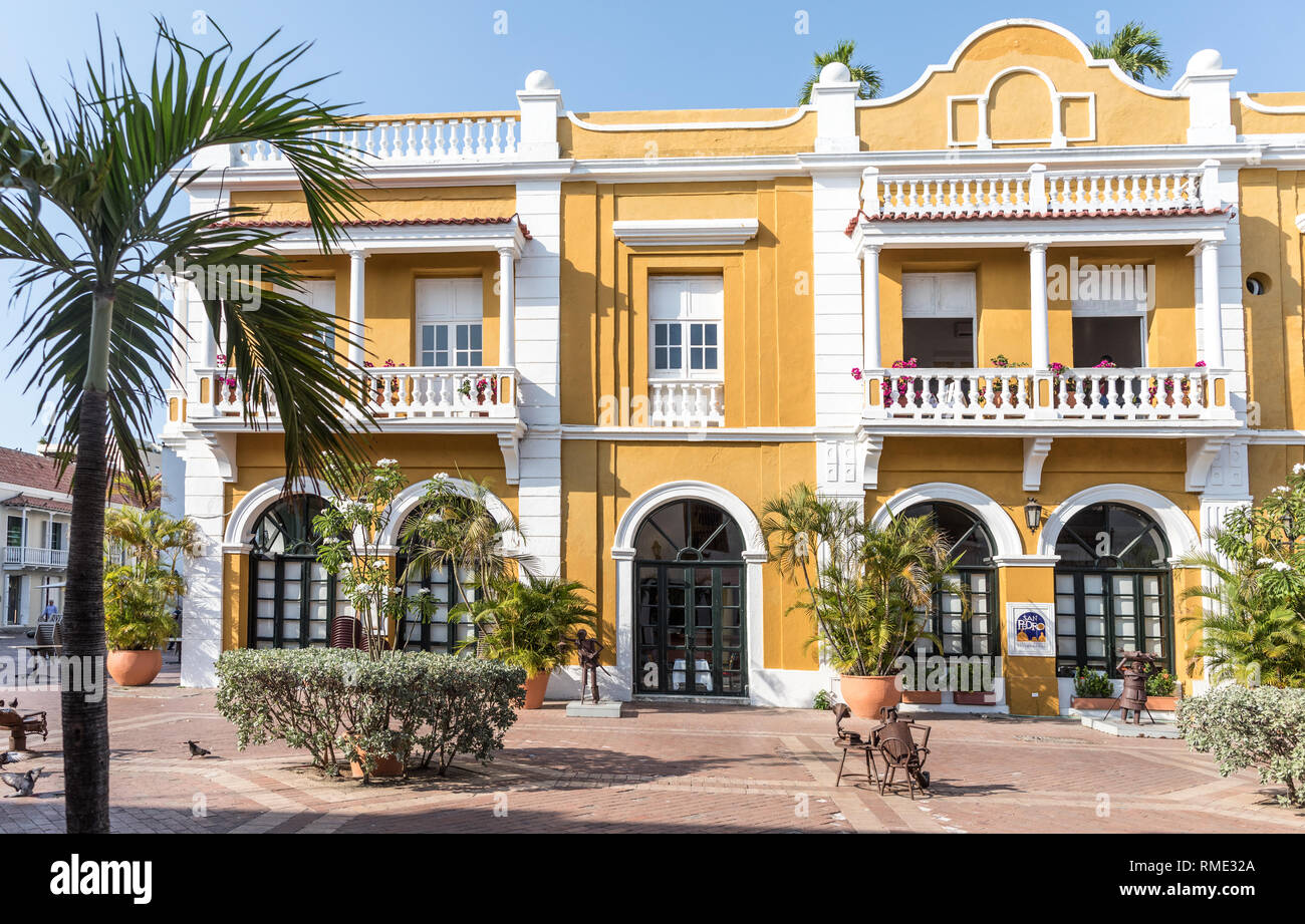 Traditional Spanish Colonial Style Architecture Cartagena Colombia South America Stock Photo Alamy