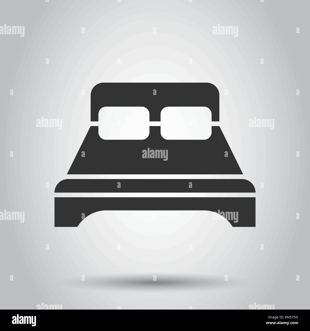 Relax Sofa Bed Icon In Flat Style Sleep Bedroom Vector Illustration On White