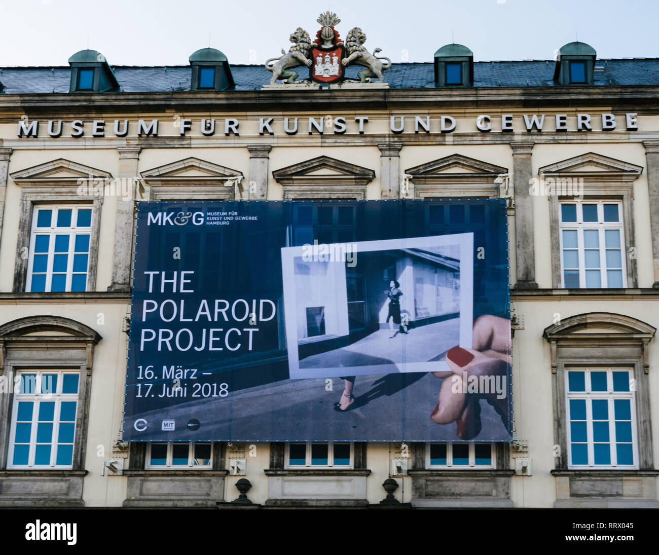Museum Für Kunst Und Gewerbe Hamburg, Germany - Mar 20, 2018: Museum Fur Kunst Und Gewerbe Facade With The Polaroid Project Exhibition Stock Photo - Alamy