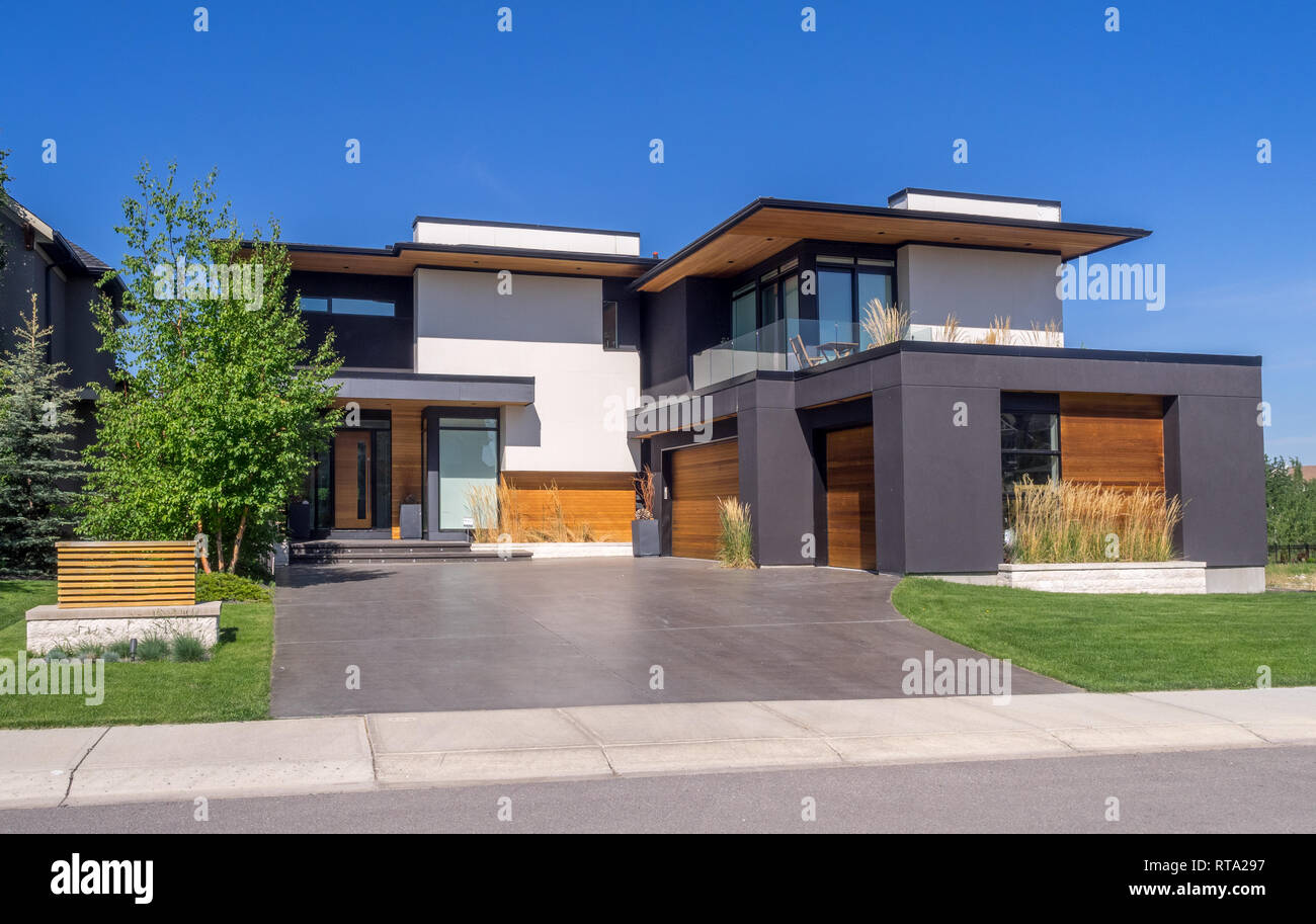 Garage Design Canada Luxury House At Sunny Day In Calgary Canada Taken From Exterior