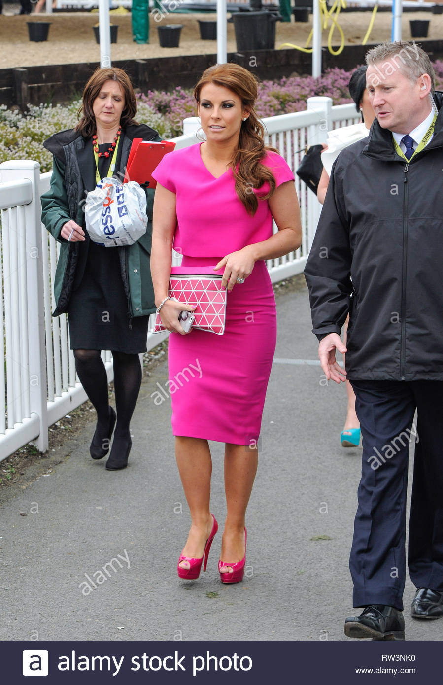 Pink Tv Online 3 Apr 2014 Liverpool Uk Coleen Rooney Looks Pretty In Pink As