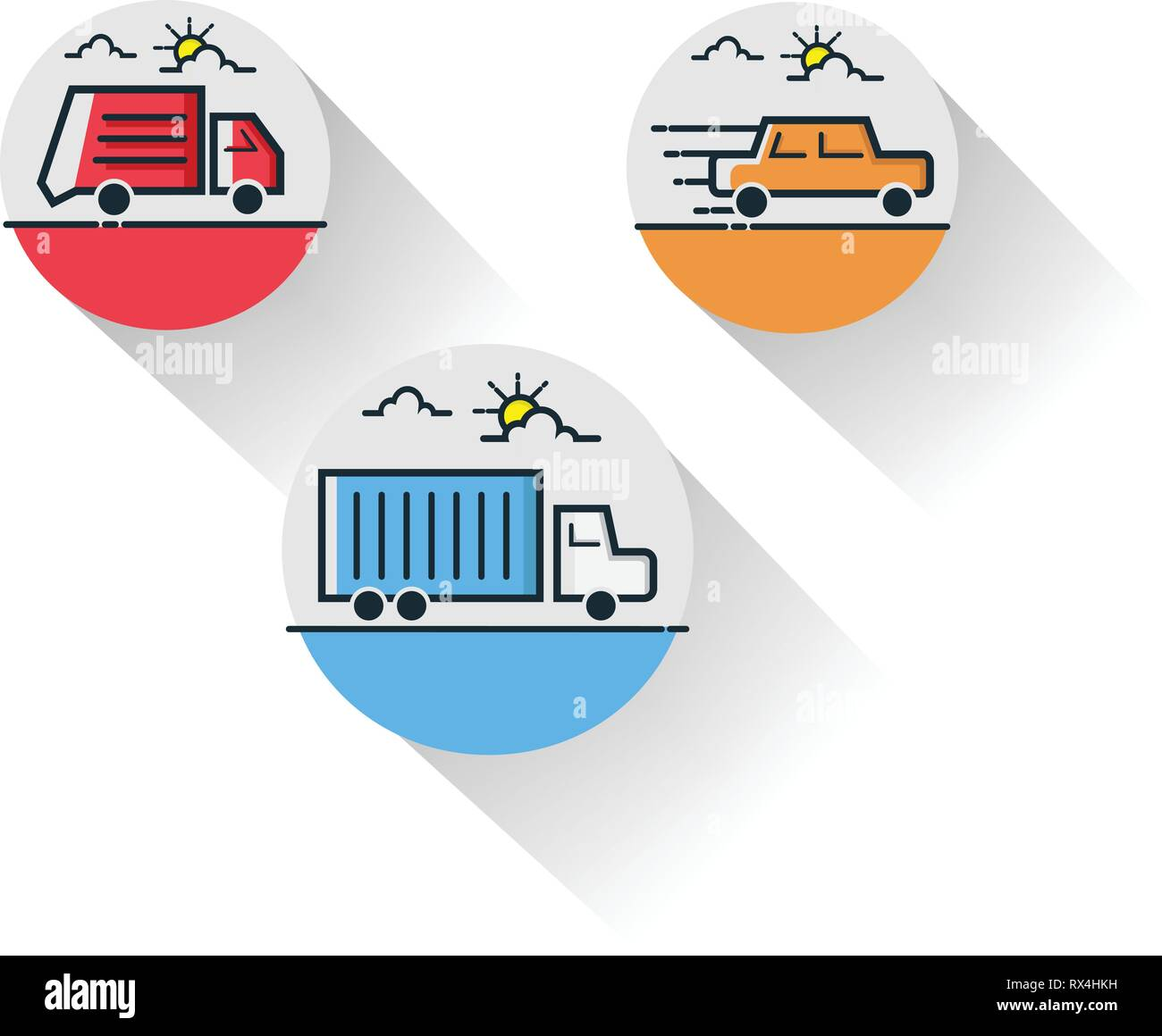 Möbel Modern Design Transportation Thin Line Icon Set For Web And Mobile Modern