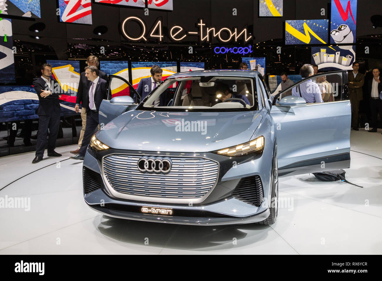 Cuv Car Geneva Switzerland March 5 2019 Audi Q4 E Tron Electric Cuv