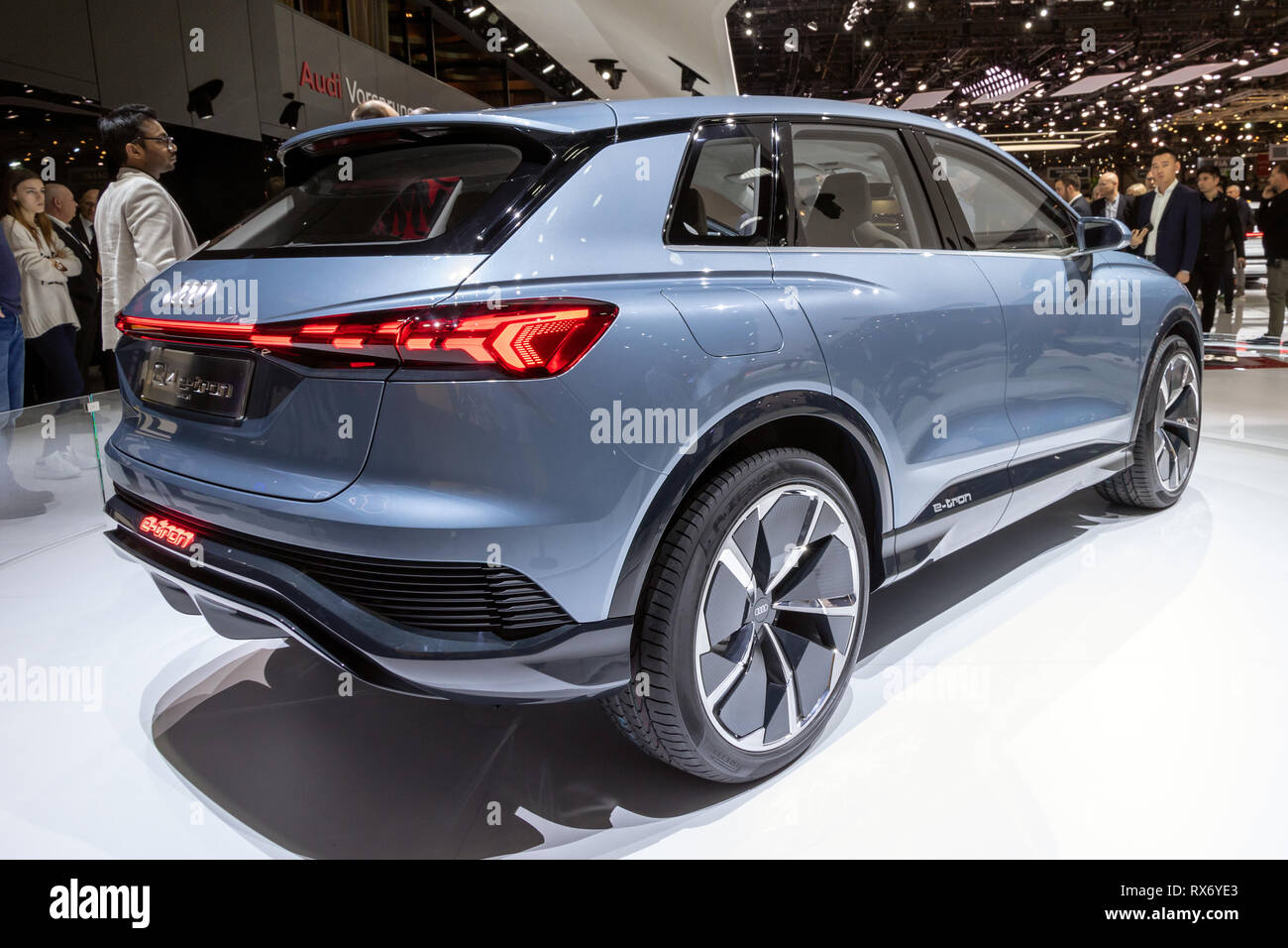 Cuv Car Geneva Switzerland March 6 2019 Audi Q4 E Tron Electric Cuv