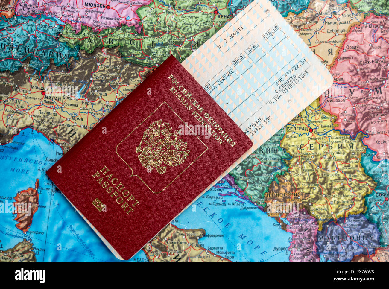 Trip Travel Preparing For The Trip Travel On The Map Is A Passport And