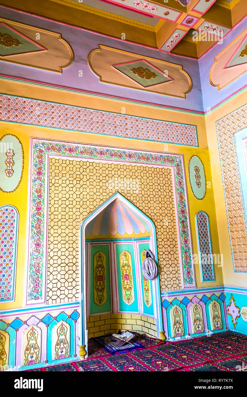 My Asia Küche Kuche Royal King Palace Mosque Mihrab Prayers Corner Stock Photo