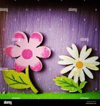 Painted wood flowers Stock Photo, Royalty Free Image ...