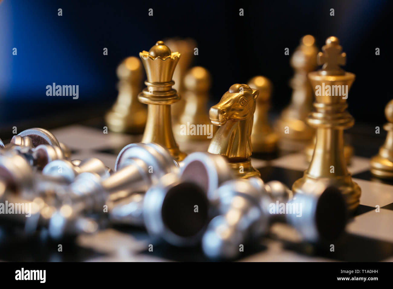 Gold Chess Pieces Golden Chess Pieces Stock Photos Golden Chess Pieces Stock