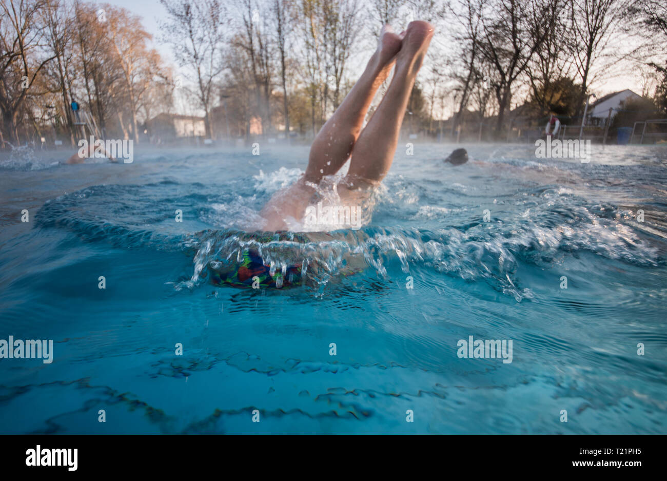 Swimming Pool Frankfurt Man At A Pool Stock Photos Man At A Pool Stock Images Page 6