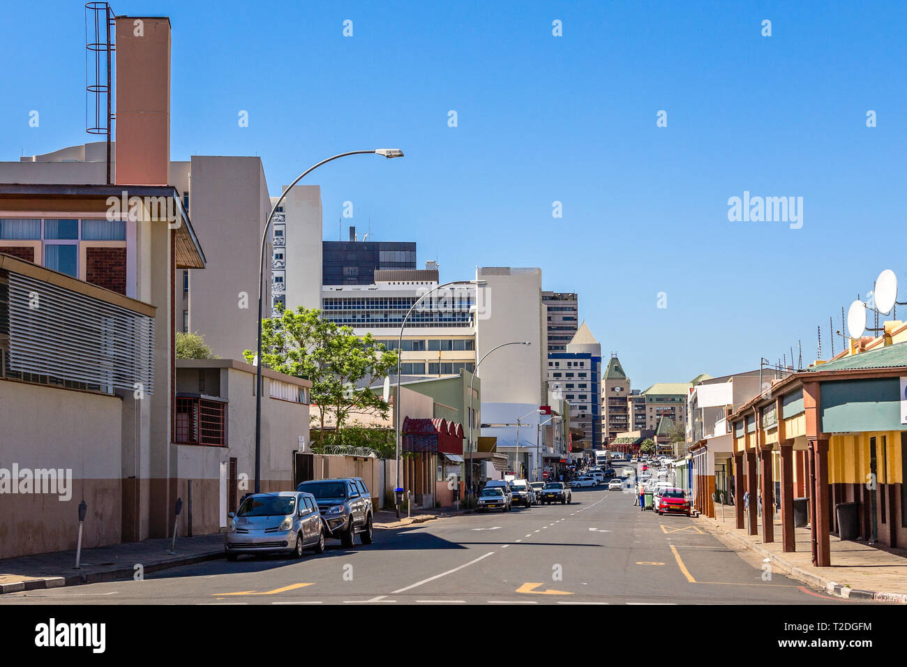 Namibia Immobilien Downtown Windhoek Windhoek Namibia Stock Photos Downtown