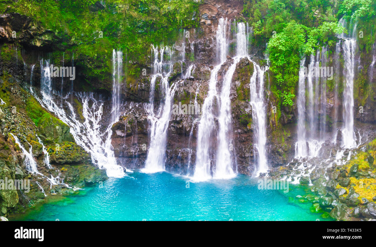 Reunion Island Cascade Of Grand Galet In Langevin Valley La Reunion Island