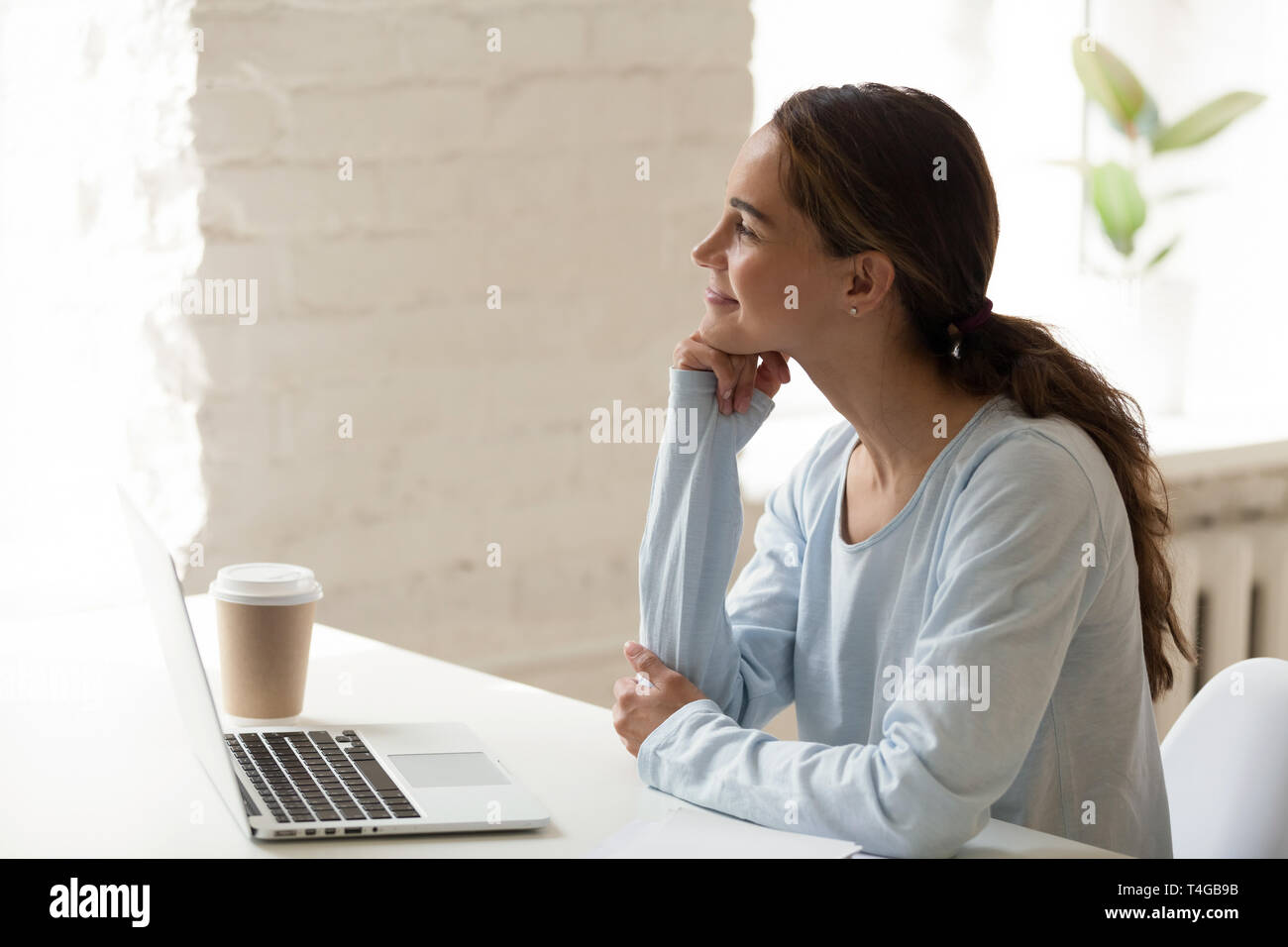 Rocking Chair Yoga Pose Woman Window Breath Stock Photos And Woman Window Breath