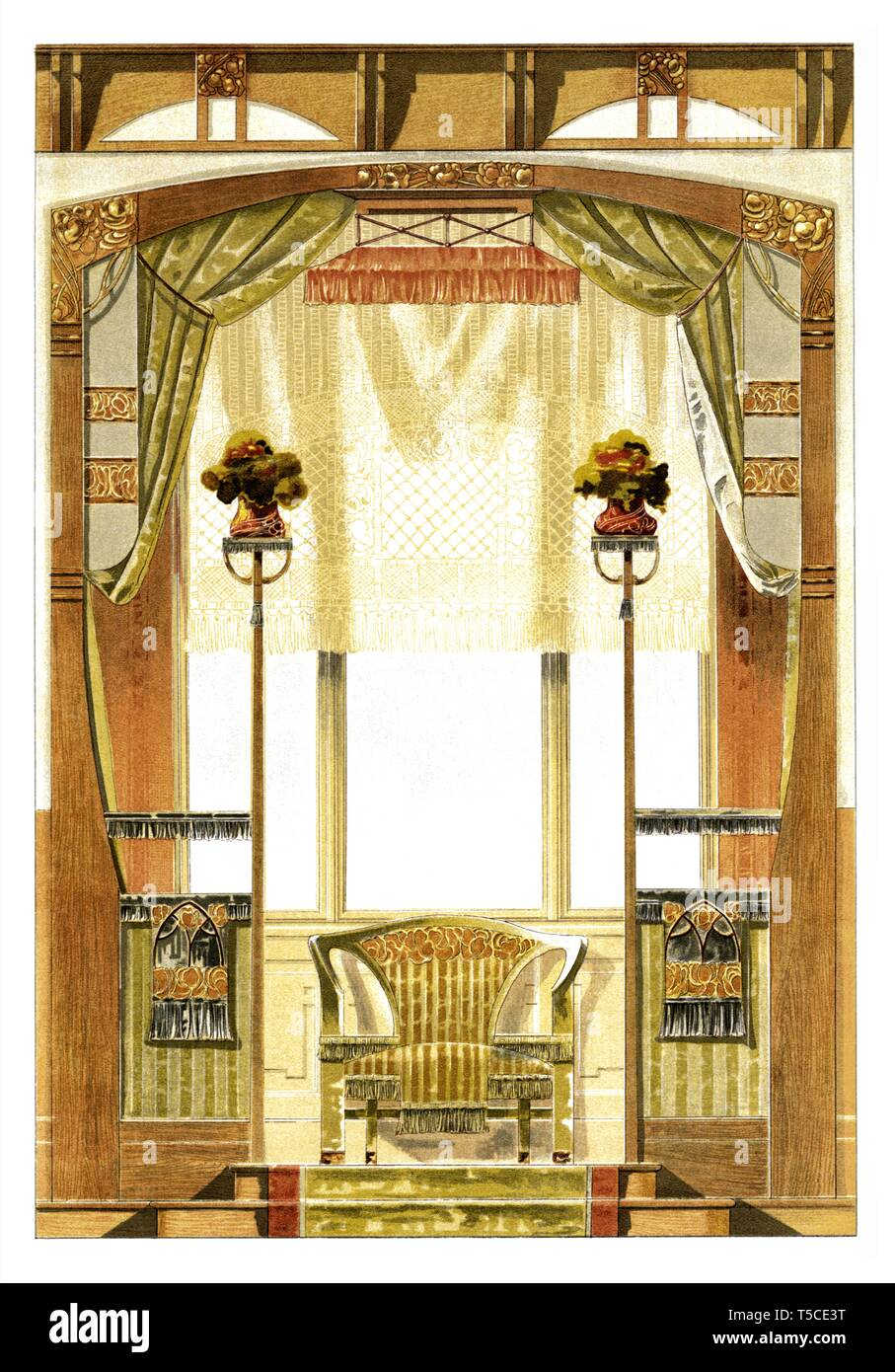 Décoration Art Nouveau Bay Decoration Art Nouveau Vintage Illustration By Modern