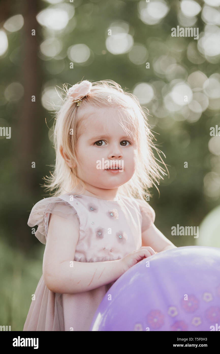 Toddler 2 Years Old Birthday Stylish Baby Girl 2 5 Year Old Holding Big Balloon Wearing
