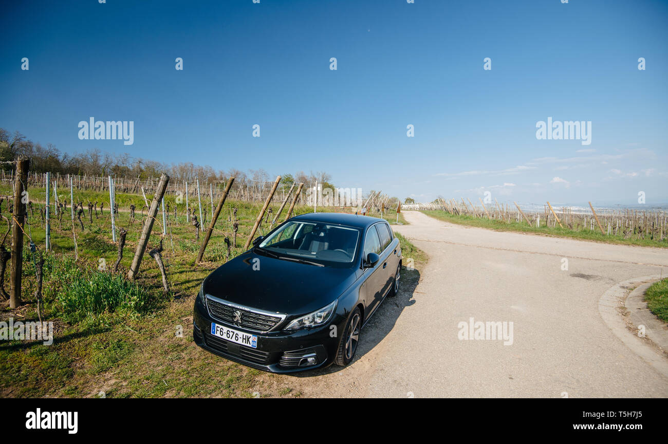Garage Peugeot Dinan French Village Car Stock Photos French Village Car Stock Images