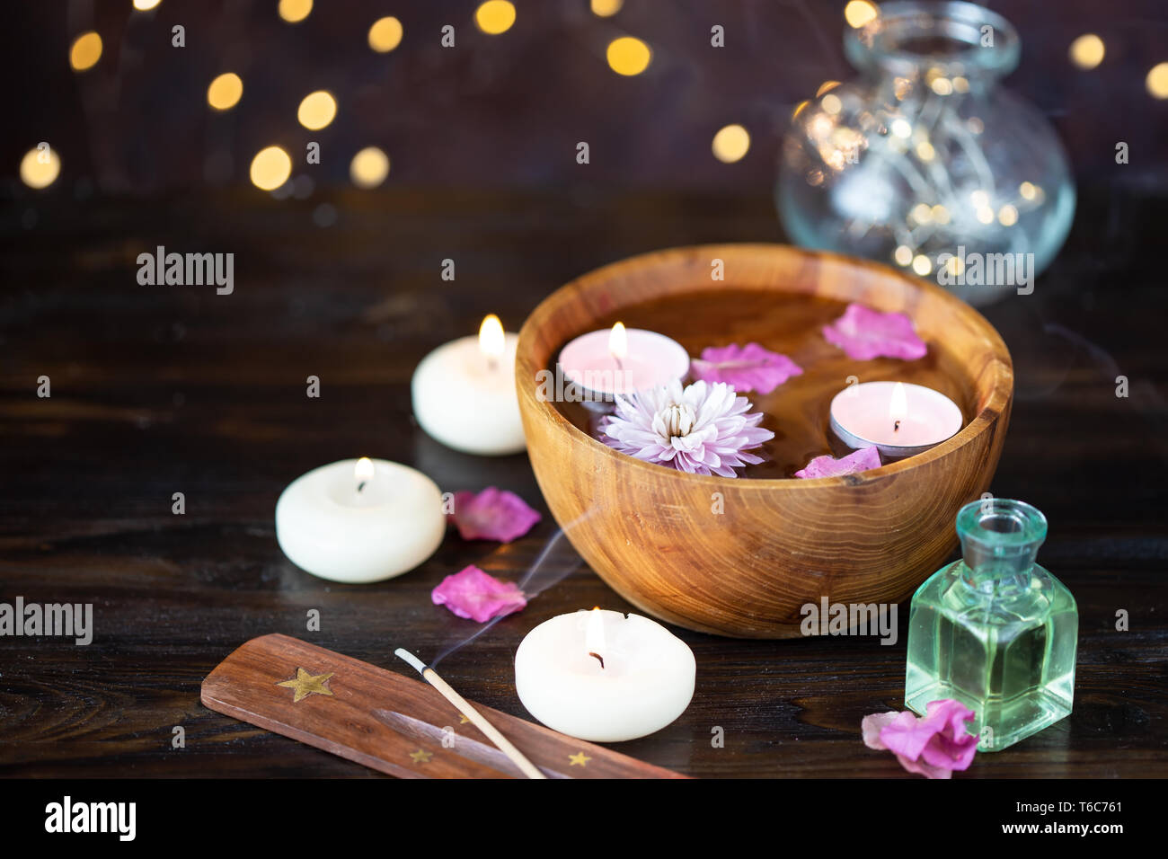 Relax Fh Rt Wellness Spa Relax Water Petals Health Concept Relaxation Stock