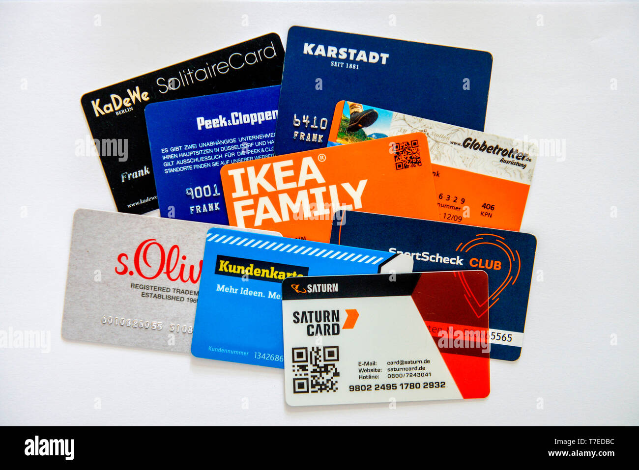 Ikea Bank Hotline Debit Cards Stock Photo 245565584 Alamy